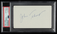 John Thompson Signed 3x5 Cut (PSA Encapsulated) at PristineAuction.com