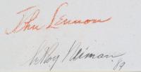 "LeRoy Neiman ""John Lennon"" 12x16 Custom Framed Print Display With Vintage Lennon Pin at PristineAuction.com"