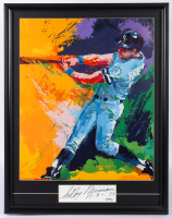 "LeRoy Neiman Signed ""George Brett"" 22x28 Custom Framed Cut Display with Vintage Lithograph Inscribed ""11-4-83"" (PSA COA) at PristineAuction.com"