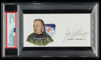 Joseph Kittinger Signed 3x5 Cut (PSA Encapsulated) at PristineAuction.com
