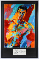 """LeRoy Neiman Signed """"Muhammad Ali"""" 23x35 Custom Framed Cut Display with Vintage Lithograph (PSA COA) at PristineAuction.com"""