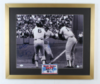 "Bucky Dent, Mike Torrez & Don Denkinger Signed Yankees 22x26 Custom Framed Photo Display Inscribed ""Umpire"" (JSA Hologram) (See Description) at PristineAuction.com"