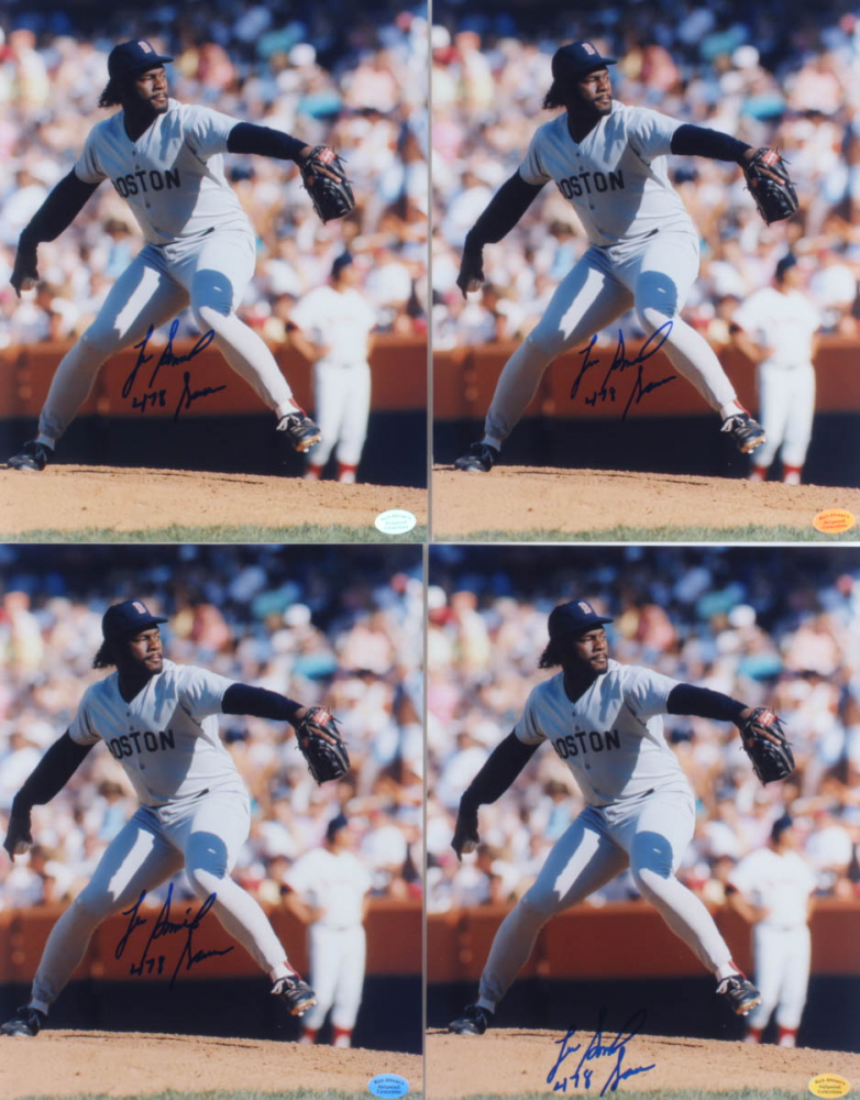 """Lot of (4) Lee Smith Signed Red Sox 8x10 Photos Inscribed """"478 Saves"""" (Hollywood Collectibles Hologram) at PristineAuction.com"""
