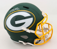 Davante Adams Signed Packers Full-Size AMP Alternate Speed Helmet (JSA COA) (See Description) at PristineAuction.com