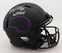 "Kyle Rudolph Signed Vikings Full-Size Authentic On-Field Eclipse Alternate Speed Helmet Inscribed ""WPMOY"" (Beckett COA) at PristineAuction.com"