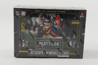 2020 Panini Playbook Football Mega Box (Purple Parallels) with (4) Packs at PristineAuction.com