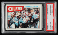 Warren Moon Signed 1987 Topps #306 Oilers TL (PSA Encapsulated) at PristineAuction.com