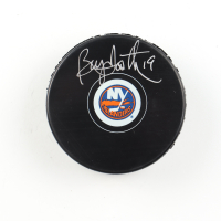 Bryan Trottier Signed Islanders Logo Hockey Puck (COJO COA) at PristineAuction.com