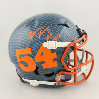 """Briam Urlacher Signed Full-Size Authentic On-Field Hydro-Dipped Helmet Inscribed """"HOF 2018"""" (Beckett COA) at PristineAuction.com"""