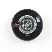 """Vaclav Nedomansky Signed Red Wings Logo Hockey Puck Inscribed """"HHOF 19"""" (COJO COA) at PristineAuction.com"""