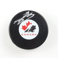 Bowen Byram Signed Team Canada Logo Hockey Puck (COJO COA) at PristineAuction.com