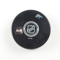 """Red Kelly Signed Maple Leafs Logo Hockey Puck Inscribed """"HOF-1969"""" (COJO COA) at PristineAuction.com"""