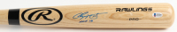 "Chipper Jones Signed Rawlings Pro Baseball Bat Inscribed ""HOF 18"" (Beckett COA) (See Description) at PristineAuction.com"