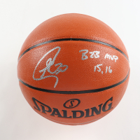 """Stephen Curry Signed NBA Game Ball Series Basketball Inscribed """"B2B MVP 15,16"""" (Beckett COA) at PristineAuction.com"""