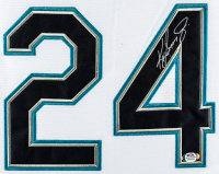Ken Griffey Jr. 35x43 Custom Framed Jersey Display (PSA Hologram) at PristineAuction.com