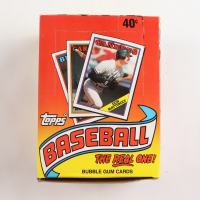 "1988 Topps ""The Real One"" Bubble Gum Baseball Cards Box with (36) Packs (See Description) at PristineAuction.com"