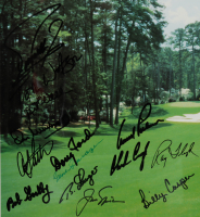 Masters Tournament Agusta National Golf Club 27x30.5 Custom Framed Photo Display Signed By (24) With Arnold Palmer, Jack Nicklaus, Gary Player, Ben Crenshaw, Herman Keiser (JSA ALOA) at PristineAuction.com