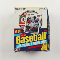1988 Fleer Baseball Wax Box with (36) Packs (See Description) at PristineAuction.com