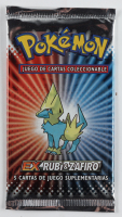 2004 Pokemon Spanish EX Ruby & Sapphire Booster Pack with (5) Cards at PristineAuction.com