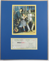 "Jack Haley Signed ""The Wizard Of Oz"" 16x20 Custom Matted Check Display (JSA COA) at PristineAuction.com"