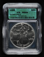1989 American Silver Eagle $1 One Dollar Coin (ICG MS69) at PristineAuction.com