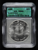 1986 American Silver Eagle $1 One Dollar Coin (ICG MS69) at PristineAuction.com