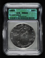 1993 American Silver Eagle $1 One Dollar Coin (ICG MS69) at PristineAuction.com