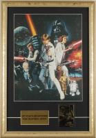 "Vintage ""Star Wars: Episode IV - A New Hope"" 15x21 Custom Framed Print Display with 23 KT Gold Card at PristineAuction.com"