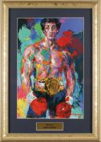 "LeRoy Neiman ""Rocky"" 13x18 Custom Framed Print Display at PristineAuction.com"