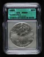 1995 American Silver Eagle $1 One Dollar Coin (ICG MS69) at PristineAuction.com