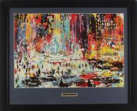 "LeRoy Neiman ""The Plaza Hotel"" 17x21 Custom Framed Print Display at PristineAuction.com"