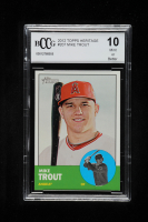 Mike Trout 2012 Topps Heritage #207 (BCCG 10) at PristineAuction.com