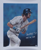 "Don Mattingly Signed Yankees 20x24 Lithograph Print On Canvas Inscribed ""1985 AL MVP"" (Beckett COA) at PristineAuction.com"