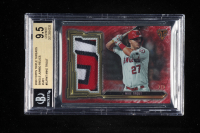 Mike Trout 2020 Topps Triple Threads Single Jumbo Relics Ruby #SJRMT (BGS 9.5) at PristineAuction.com