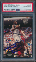 Shaquille O'Neal Signed 1992-93 Stadium Club #247 RC (PSA Encapsulated) at PristineAuction.com