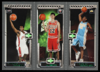 LeBron James 111 / Kirk Hinrich 117 / Carmelo Anthony 113 2003-04 Topps Rookie Matrix #JHA at PristineAuction.com