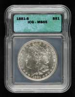 1881-S Morgan Silver Dollar (ICG MS65) at PristineAuction.com