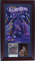"Vintage ""Disneyland Illuminations"" 15x26 Custom Framed Print Display with Vintage Guidebook & Postcard at PristineAuction.com"