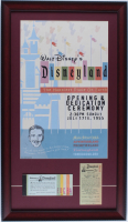 Disneyland Hotel 15x26 Custom Framed Shadowbox Poster Print Display with Vintage Ticket Booklet & .25 Parking Pass at PristineAuction.com