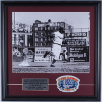 Jackie Robinson Dodgers 18x18 Custom Framed Photo Display with Dodgers Patch at PristineAuction.com