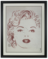 "Brett Livingstone ""Marilyn Monroe"" 29x33 Custom Framed Lithograph Display at PristineAuction.com"