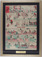 "1933 Original ""Silly Symphonies"" Disney Comic Strip 18.5x25 Custom Framed Display at PristineAuction.com"
