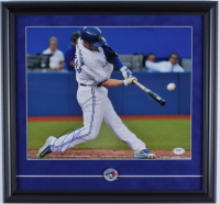 Josh Donaldson Signed Blue Jays 16x17 Custom Framed Photo Display with Blue Jays Pin (PSA COA) at PristineAuction.com