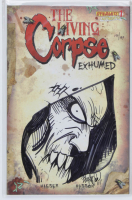 "Buz Hasson Signed LE ""The Living Corpse: Exhumed"" Issue #1 Dynamite Comic Book with Sketch (Dynamic Forces COA) at PristineAuction.com"