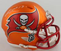 Mike Evans Signed Buccaneers Blaze Speed Mini Helmet (PSA COA) at PristineAuction.com