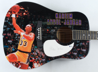 Kareem Abdul-Jabbar Signed Acoustic Guitar (Beckett COA) (See Description) at PristineAuction.com