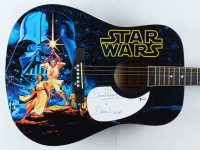 "David Prowse Signed Acoustic Guitar Inscribed ""Is Darth Vader"" (Beckett COA) at PristineAuction.com"