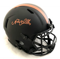 Nick Chubb Signed Browns Full-Size Authentic On-Field Eclipse Alternate Speed Helmet (Beckett COA) at PristineAuction.com