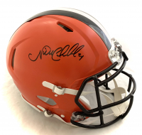Nick Chubb Signed Browns Full-Size Authentic On-Field Speed Helmet (Beckett COA) at PristineAuction.com