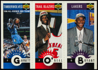 Kobe Bryant / Jermaine O'Neal / Kevin Garnett 1996-97 Collector's Choice Mini-Cards #M129 at PristineAuction.com